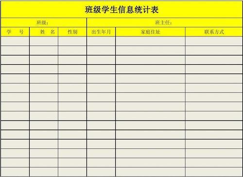学生信息表
